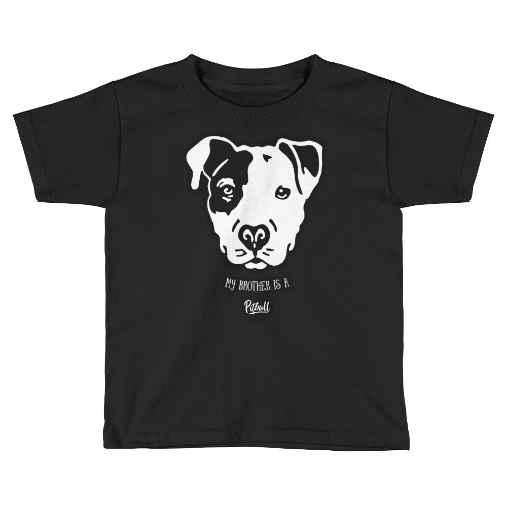 Brother is a Pitbull Kids Short Sleeve T-Shirt