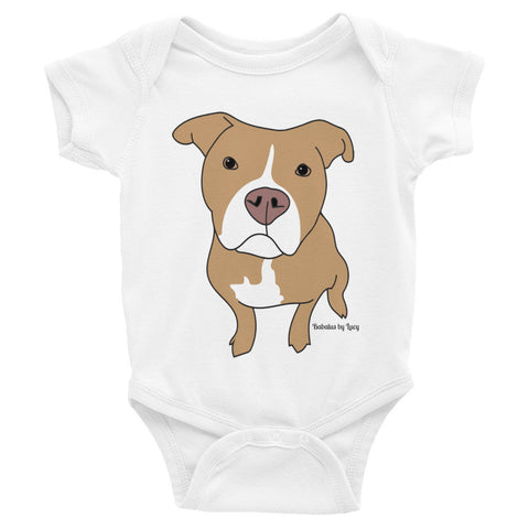 Tan Pitbull Infant Bodysuit