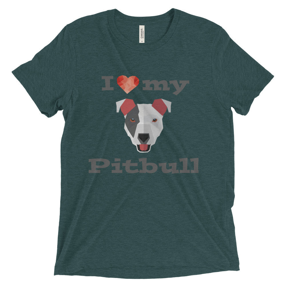 I Love My Pitbull Short sleeve t-shirt
