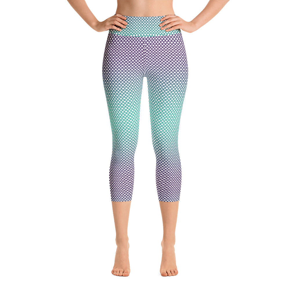 Mermaid Yoga Capri Leggings
