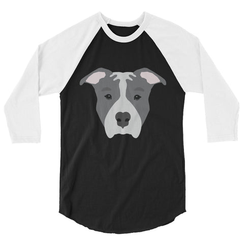 Blue Pitbull 3/4 sleeve raglan shirt