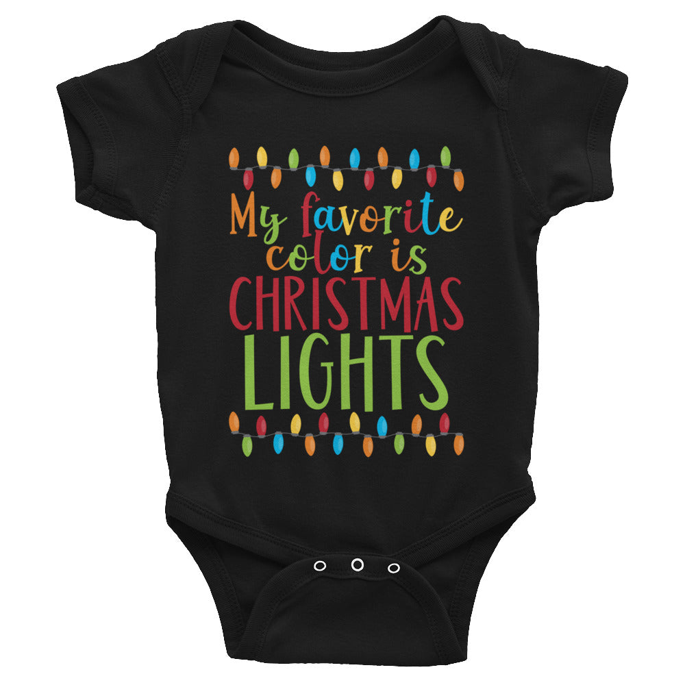 Favorite Color Is Christmas Lights Infant Bodysuit