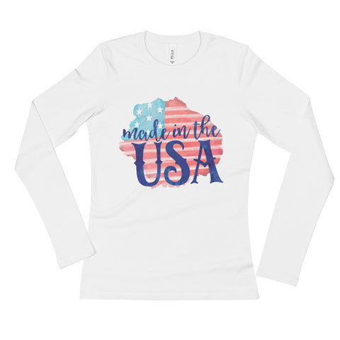 Made in the USA Ladies' Long Sleeve T-Shirt