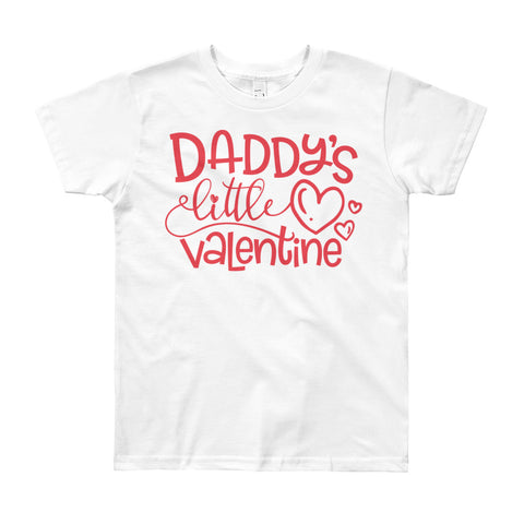 Daddy's Valentine Youth Short Sleeve T-Shirt