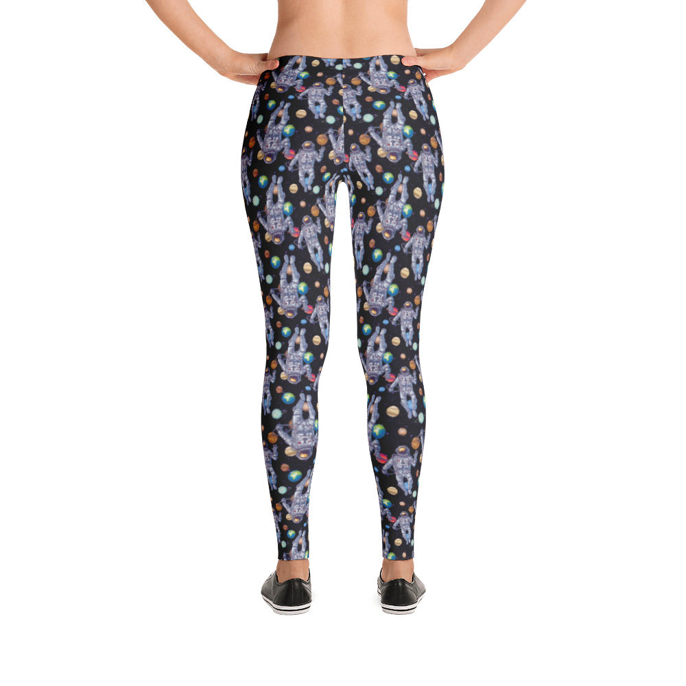 Astronaut Outer Space Planet Women's Leggings