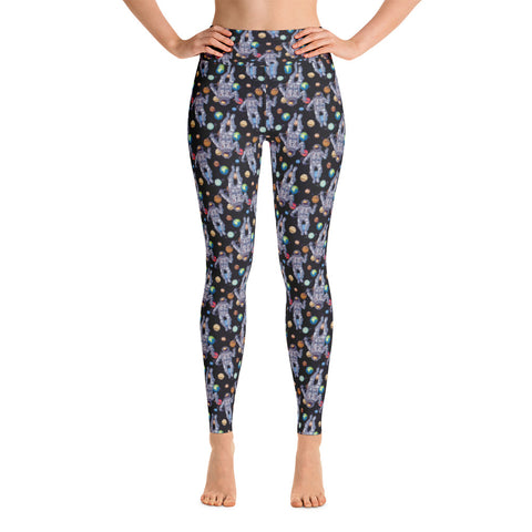 Astronaut Outer Space Planet Yoga Leggings