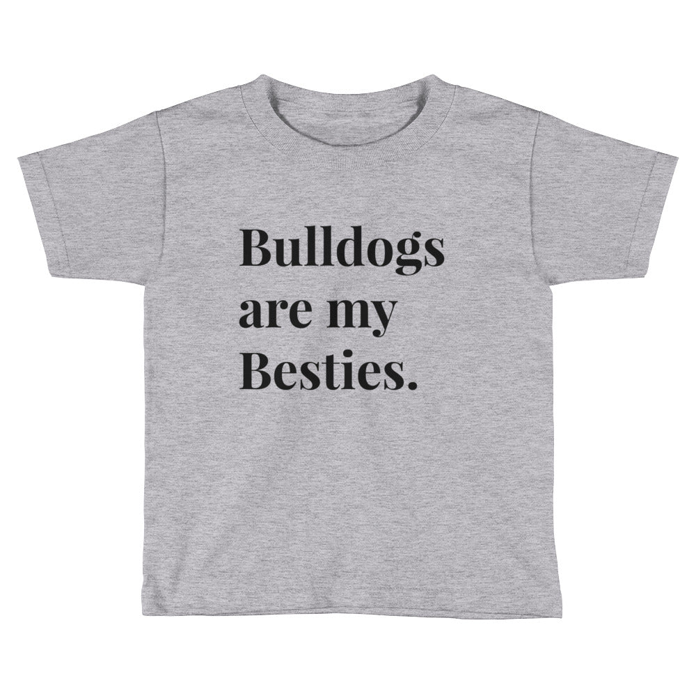 Bulldogs are my besties Kids Short Sleeve T-Shirt