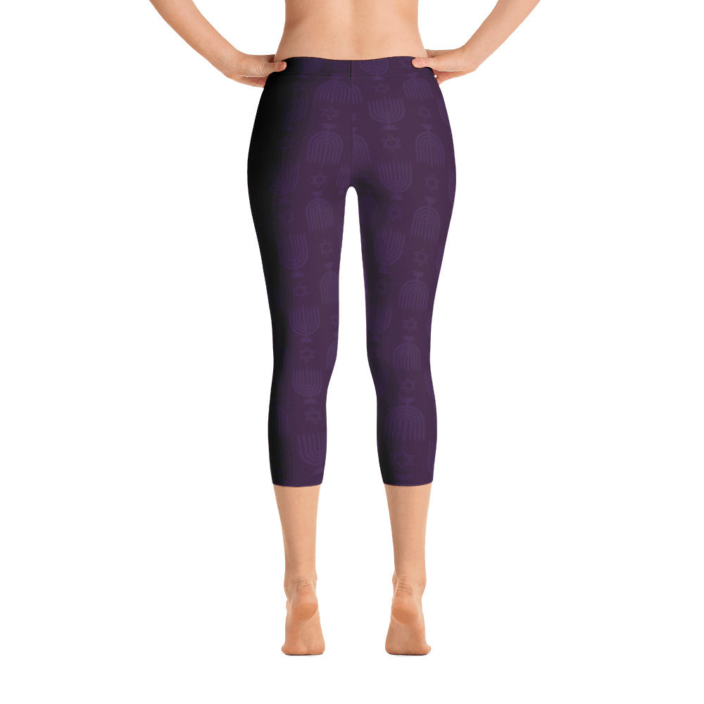 Hanukkah Capri Leggings