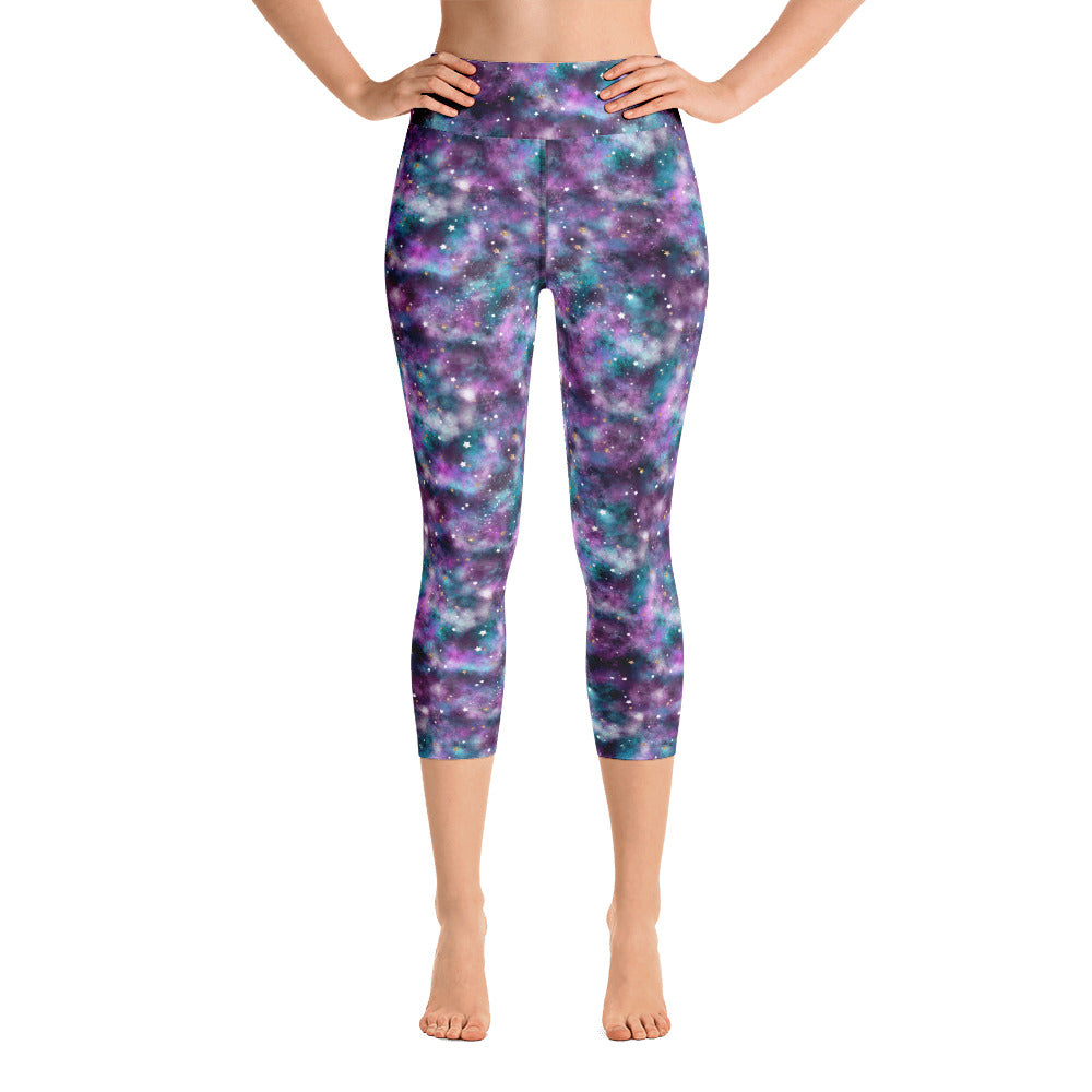 Galaxy Yoga Capri Leggings