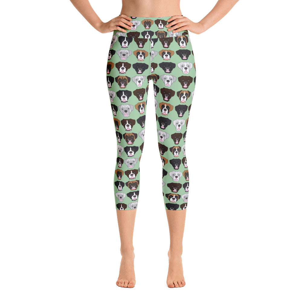Boxer Face Yoga Capri Leggings