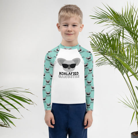 Koalafied Gangster Koala Kids Rash Guard