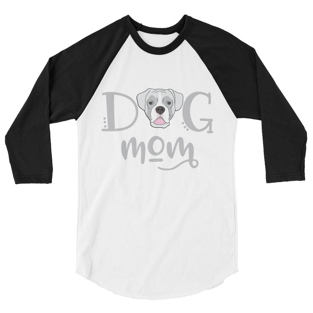 Boxer Dog Mom 3/4 sleeve raglan shirt