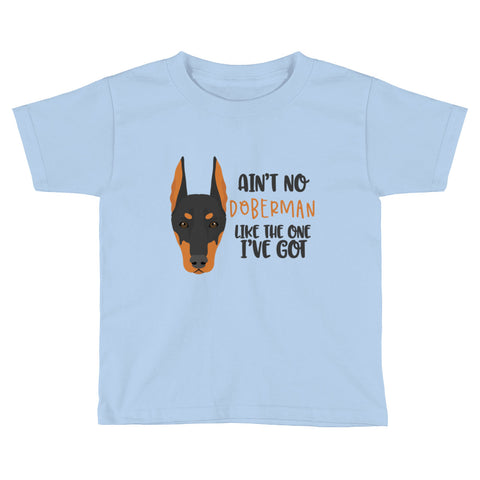 Doberman Kids Short Sleeve T-Shirt