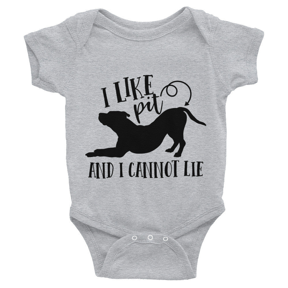 I like Pit Butts Pitbull Infant Bodysuit
