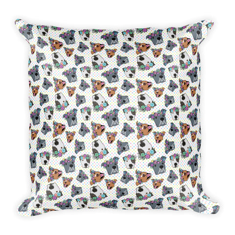 Polka Pitty Polkadot Square Pillow