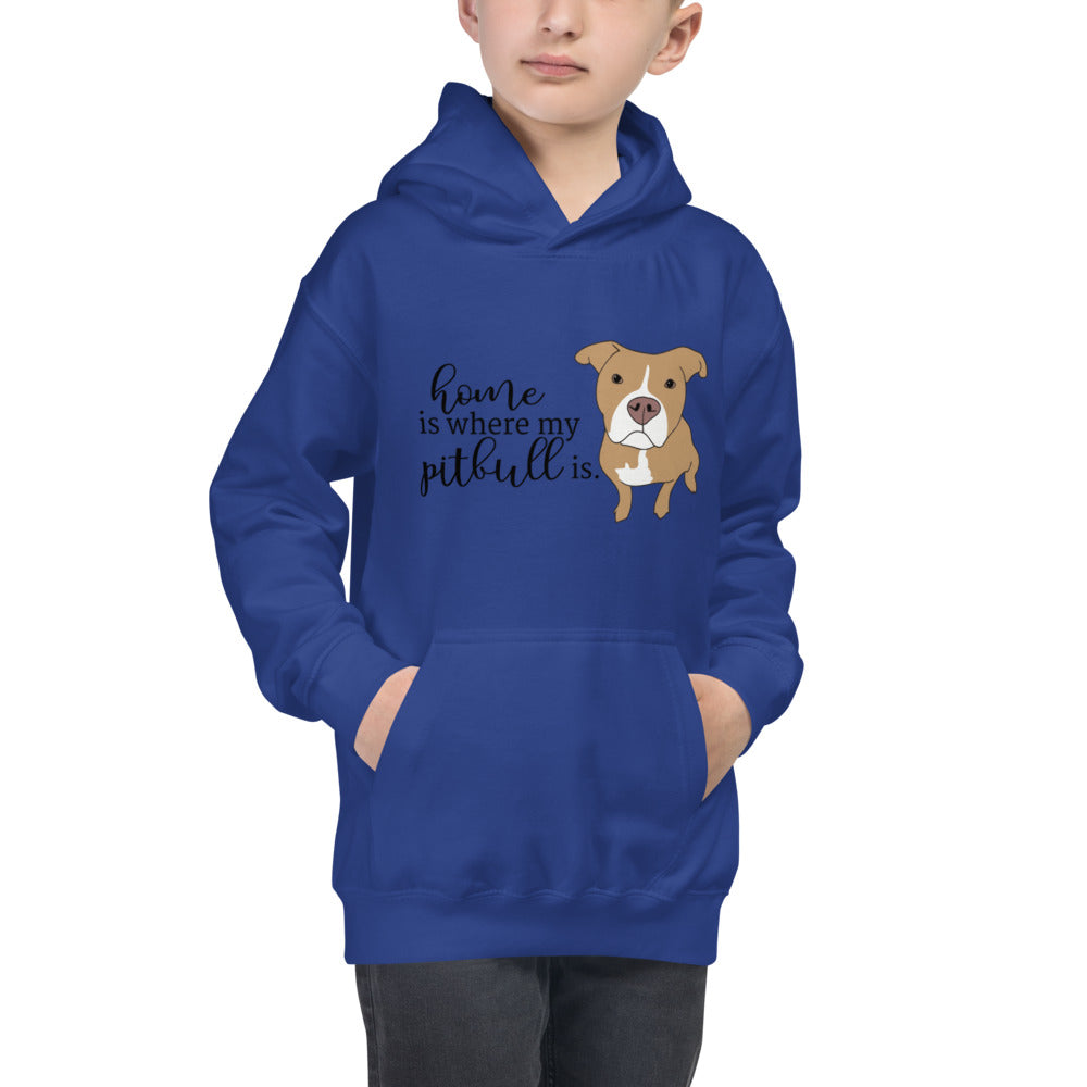 Home is where my Pitbull is Kids Hoodie