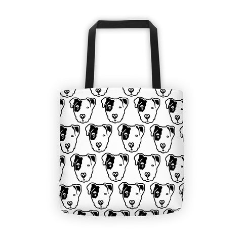 Pitbull Face Tote bag