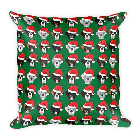 Christmas Boxer Square Pillow