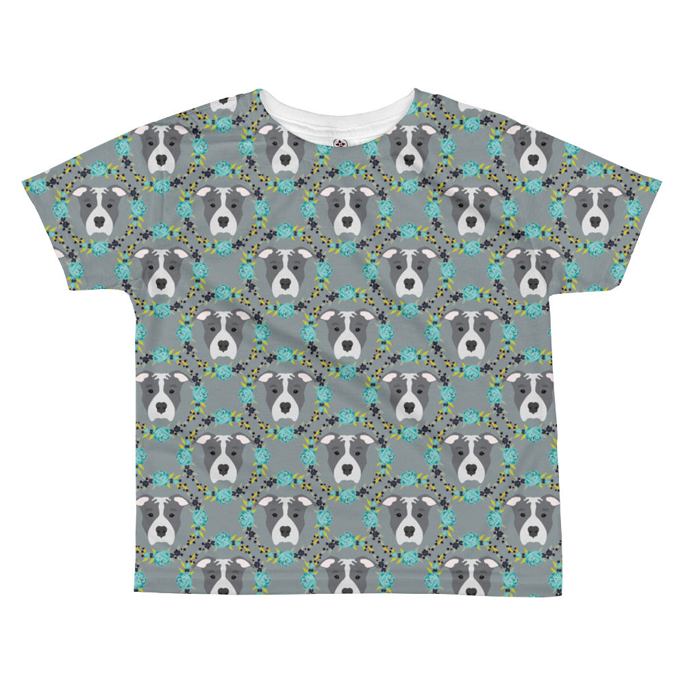 Blue Pitbull All-over kids sublimation T-shirt