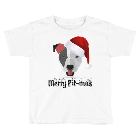 Christmas Merry Pitmas Pitbull Kids Short Sleeve T-Shirt
