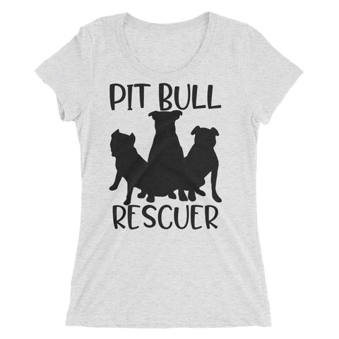 Pit Bull Rescuer Ladies' short sleeve t-shirt