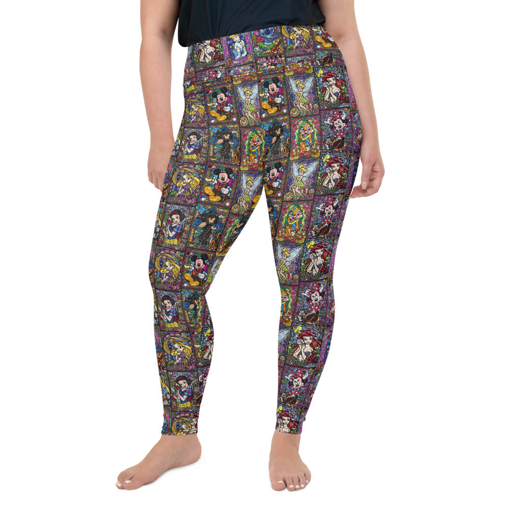 Stained Glass All-Over Print Plus Size Leggings