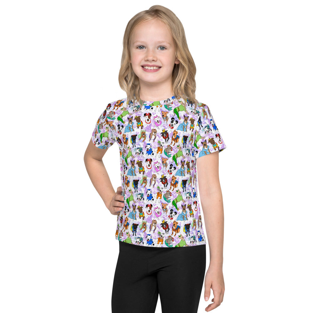 Pittiest Place on Earth Purple Pitbull Kids T-Shirt