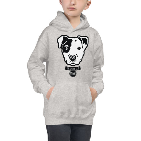 My Sister is a Pitbull Kids Hoodie