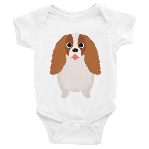 Cavalier King Charles Infant short sleeve one-piece