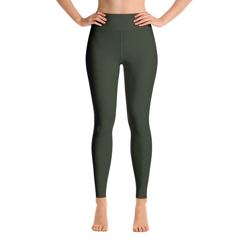 Heathered Forest Green Babalus Basics Yoga Leggings