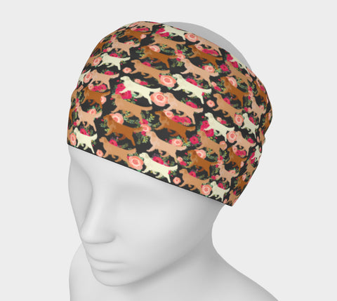 Floral Golden Retriever Headband