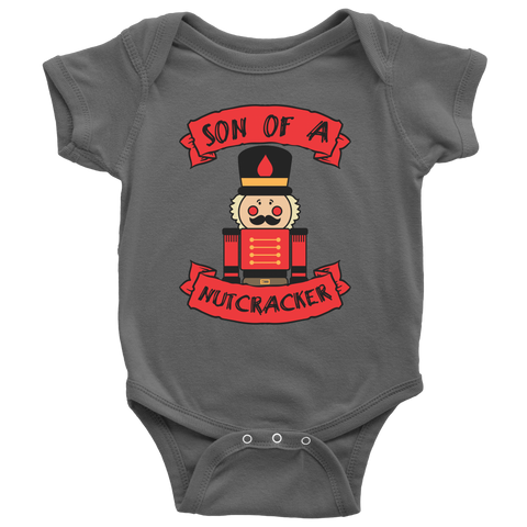 Son of a Nutcracker Christmas Infant Bodysuit