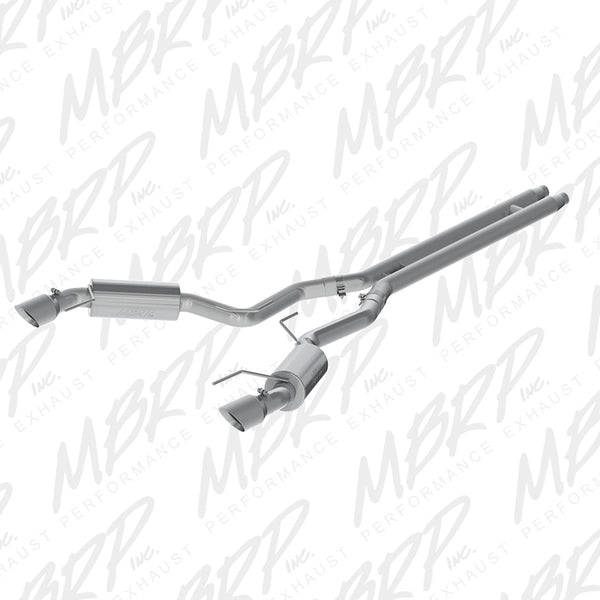 "2015-2017 Ford Mustang GT 5.0 3"" Cat Back, Dual Split Rear, Street Version, 4.5"" tips, T409"