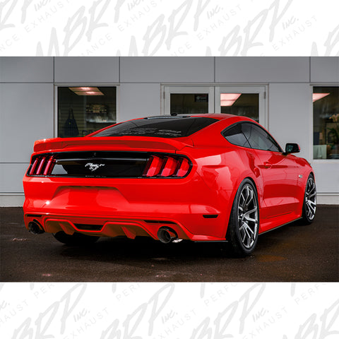 "MBRP 2015-2017 Ford Mustang GT 5.0 3"" Cat Back, Dual Split Rear, Street Version, 4.5"" tips, T409"