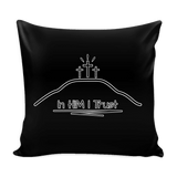 GLMBuy - In HIM I Trust Pillow Cover - Black