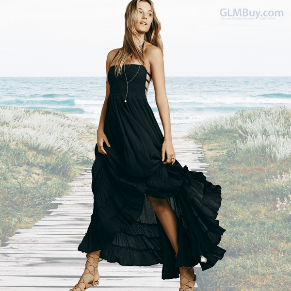 GLMBuy - Boho-Chic Summer Vibes Dress - Black / S