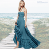 GLMBuy - Boho-Chic Summer Vibes Dress - Blue / S