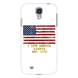 "GLMBuy - ""I Love America"" Samsung Phone Cases - Galaxy S4"