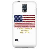 "GLMBuy - ""I Love America"" Samsung Phone Cases - Galaxy S5"