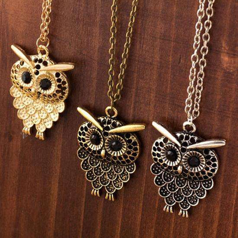 GLMBuy - Vintage Owl Necklace