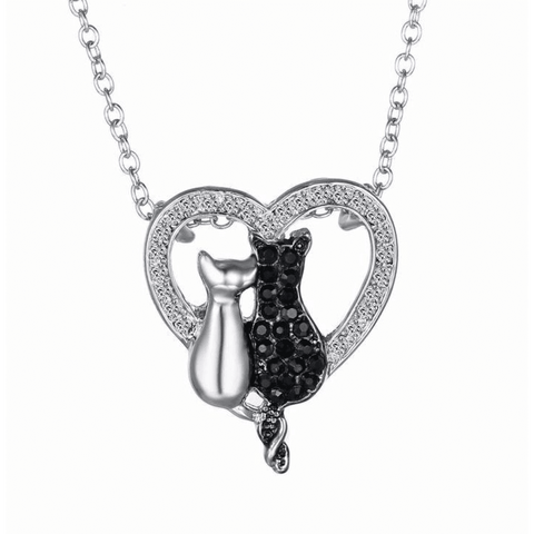 GLMBuy - Crystal Cat Necklace Offer - Shiny Cats In Love