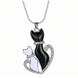 GLMBuy - Crystal Cat Necklace Offer - Shiny Cat Buddies With Heart