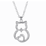 GLMBuy - Crystal Cat Necklace Offer - Silver Cat