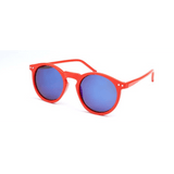 GLMBuy - Summer Fashionista Sunglasses - Red Frame W/ Blue Mirror
