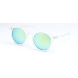 GLMBuy - Summer Fashionista Sunglasses - Matte Transparent & Gold Mirror