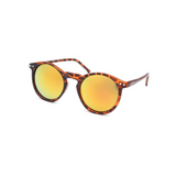 GLMBuy - Summer Fashionista Sunglasses - Matte Leopard & Light Gold Mirror