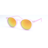 GLMBuy - Summer Fashionista Sunglasses - Matte Transparency Pink & Red Mirror
