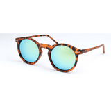 GLMBuy - Summer Fashionista Sunglasses - Matte Leopard & Gold Mirror