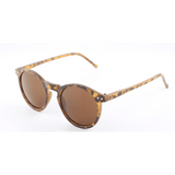 GLMBuy - Summer Fashionista Sunglasses - Yellow Leopard Frame & Brown Lens