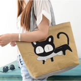 GLMBuy - Custom Cat Lovers Tote Bag Offer - Yellow